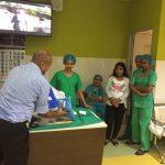 HSSF volunteer deliver at a hospital in Sri Lanka