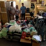 Items ready for distribution at a hospital in Sri Lanka