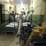 Items delivered to a hospital in Sri Lanka
